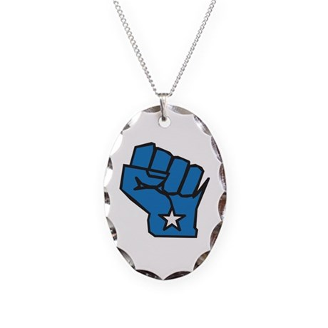 Solidarity Necklace Oval Charm