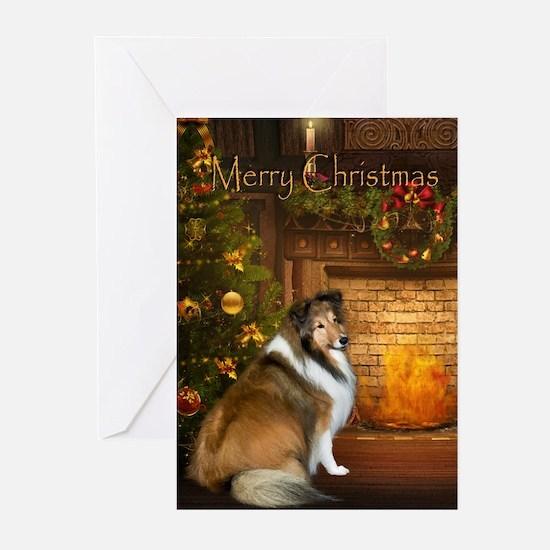 Holiday Grace Sheltie Xmas Cards (Pk of 20)