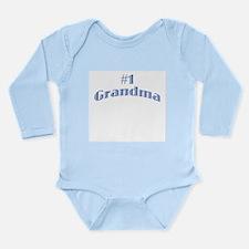 #1 Grandma Long Sleeve Infant Bodysuit