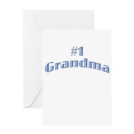 #1 Grandma Greeting Card