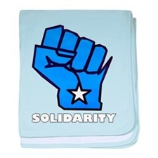 Solidarity Fist baby blanket