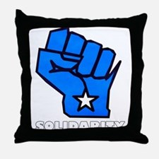 Solidarity Fist Throw Pillow