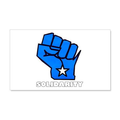 Solidarity Fist 22x14 Wall Peel