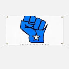 Solidarity Fist Banner
