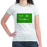 Exit 8A, Cranbury, NJ Jr. Ringer T-Shirt