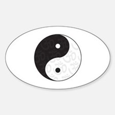 Ying Yang Yoga Oval Decal