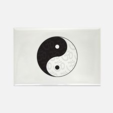 Ying Yang Yoga Rectangle Magnet (10 pack)