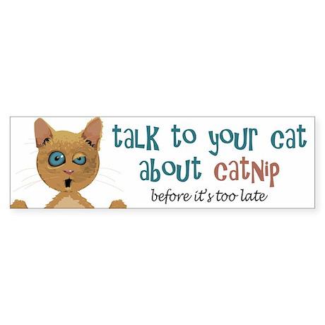 Talk to Your Cat About Catnip Bumper Sticker