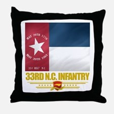 33rd NC Infantry Throw Pillow