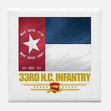 33rd NC Infantry Tile Coaster