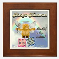 Bingo Heaven kitty Framed Tile