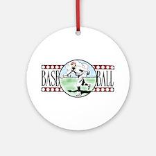 Vintage Baseball Logo Ceramic Ornament