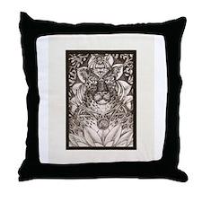 Leopard Goddess Throw Pillow