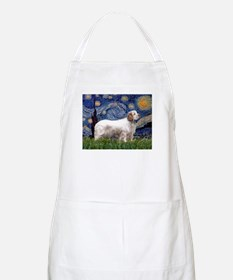 Starry Night Clumber Spaniel BBQ Apron