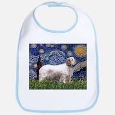 Starry Night Clumber Spaniel Bib