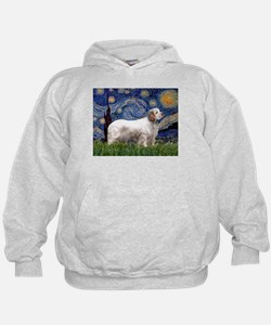 Starry Night Clumber Spaniel Hoodie