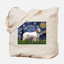 Starry Night Clumber Spaniel Tote Bag