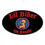 Lil Biker Sticker (Oval)