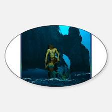 Best Seller Merrow Mermaid Sticker (Oval)