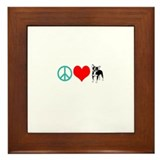 Peace love chihuahua Framed Tiles