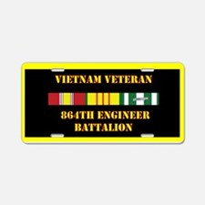 864th Engineer Battalion Aluminum License Plate