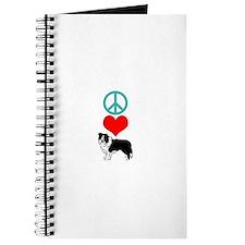 Peace Love Border Collie Journal