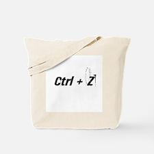 Ctrl + Z Tote Bag