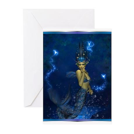 Best Seller Merrow Mermaid Greeting Cards (Pk of 2