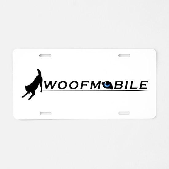 Unique Wolf mix Aluminum License Plate