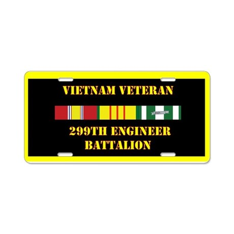 299th Engineer Battalion Aluminum License Plate