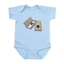 Wooden Doors Crystal Doorknob Infant Bodysuit