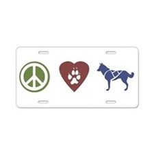 Cute Sled dogs Aluminum License Plate