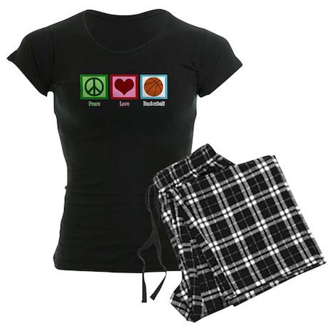 Peace Love Basketball Women's Dark Pajamas