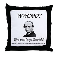 What Would Gregor Mendel Do? Throw Pillow