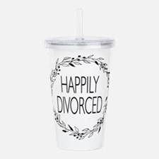 divorce party happily Acrylic Double-wall Tumbler