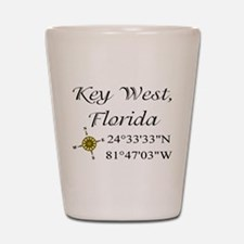 Geocaching Key West, Florida Shot Glass