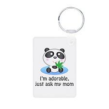 Panda Aluminum Photo Keychain