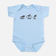 Swim Bike Run Infant Bodysuit