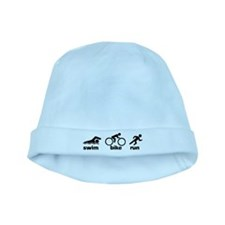 Swim Bike Run baby hat