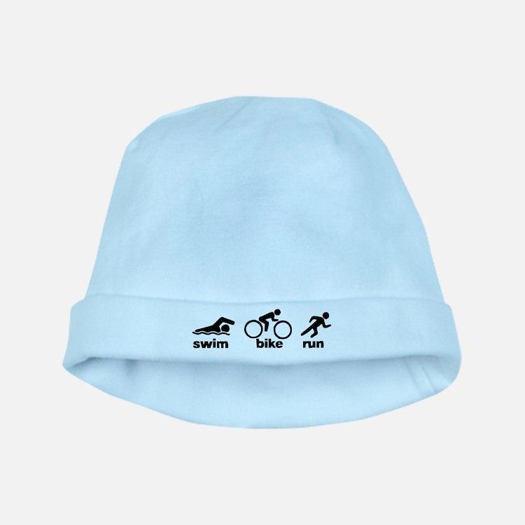 Swim Bike Run baby hat