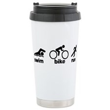 Swim Bike Run Travel Coffee Mug