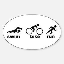Swim Bike Run Bumper Stickers