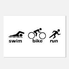 Swim Bike Run Postcards (Package of 8)