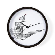 Shopping in Balance Wall Clock