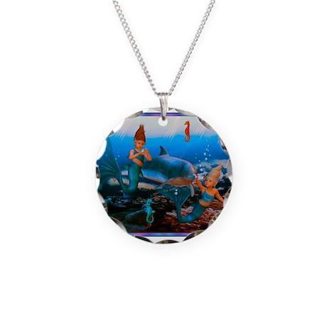 Best Seller Merrow Mermaid Necklace Circle Charm