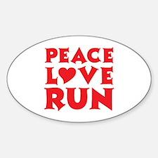 Peace Love Run - red Decal