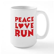 Peace Love Run - red Mug