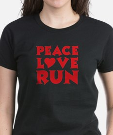 Peace Love Run - red Tee