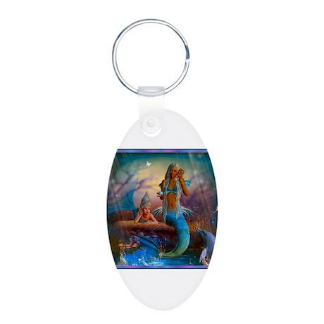 Best Seller Merrow Mermaid Aluminum Oval Keychain