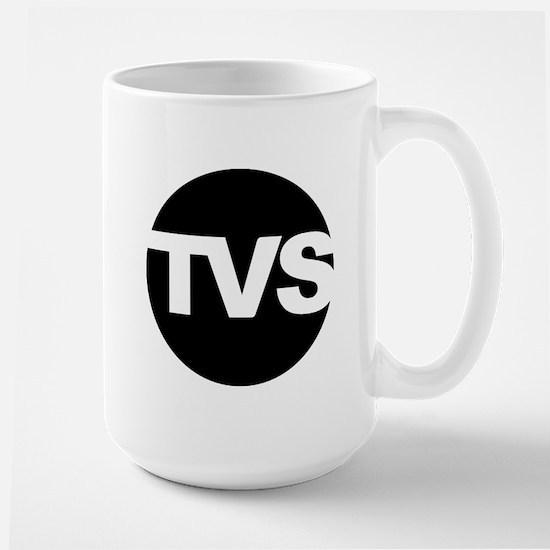 TVS Round Logo - Black Large Mug
